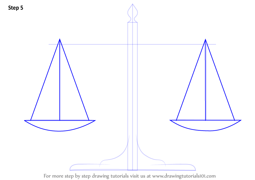 Learn How To Draw Scales Of Justice (Everyday Objects