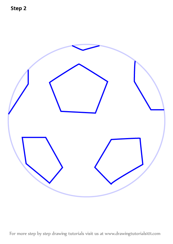 Learn How to Draw Soccer Ball (Everyday Objects) Step by Step