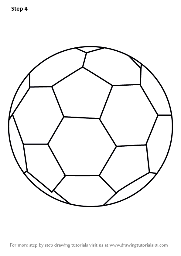 learn how to draw soccer ball  everyday objects  step by