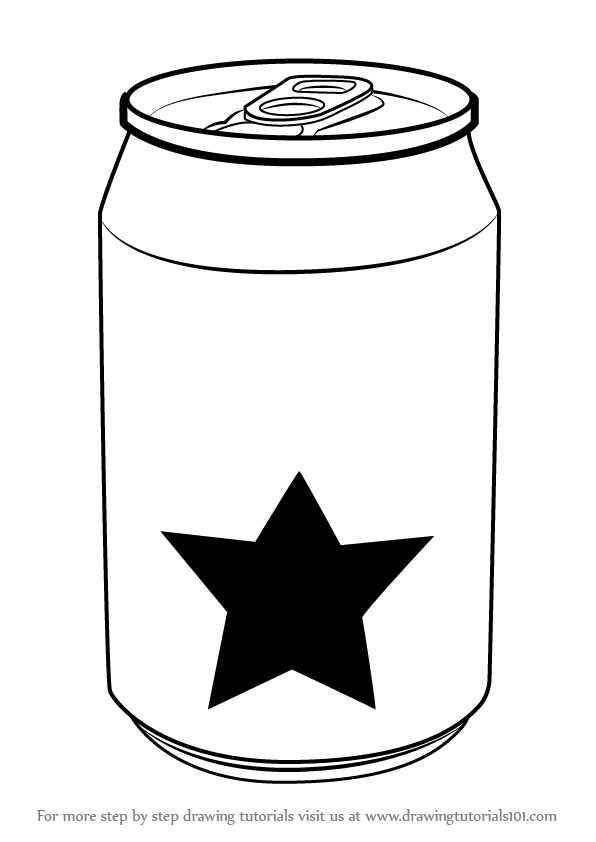 Learn how to draw a soda can everyday objects step by for A website where you can draw
