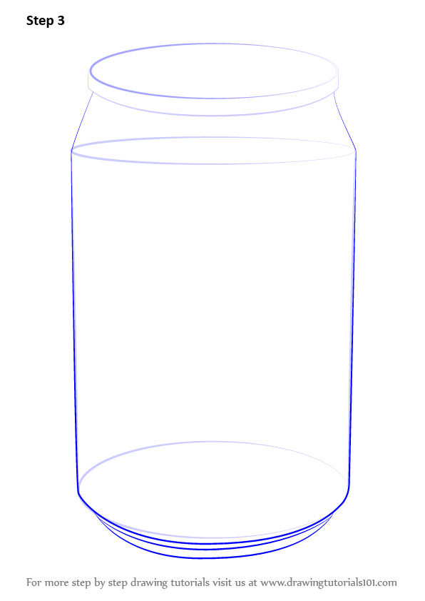 Learn How to Draw a Soda Can (Everyday Objects) Step by ...