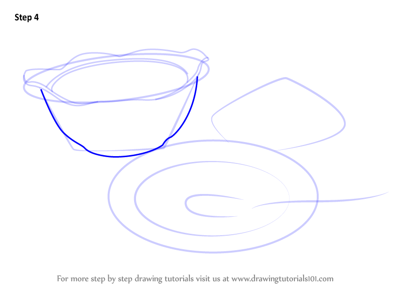 Learn How To Draw Soup Bowls Everyday Objects Step By