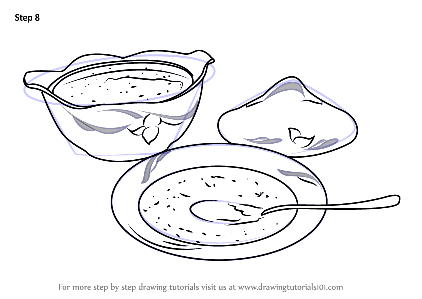 Learn How to Draw Soup Bowls Everyday