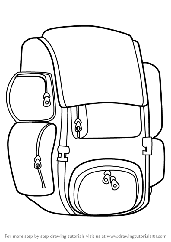 learn how to draw travel bag easy everyday objects step by step
