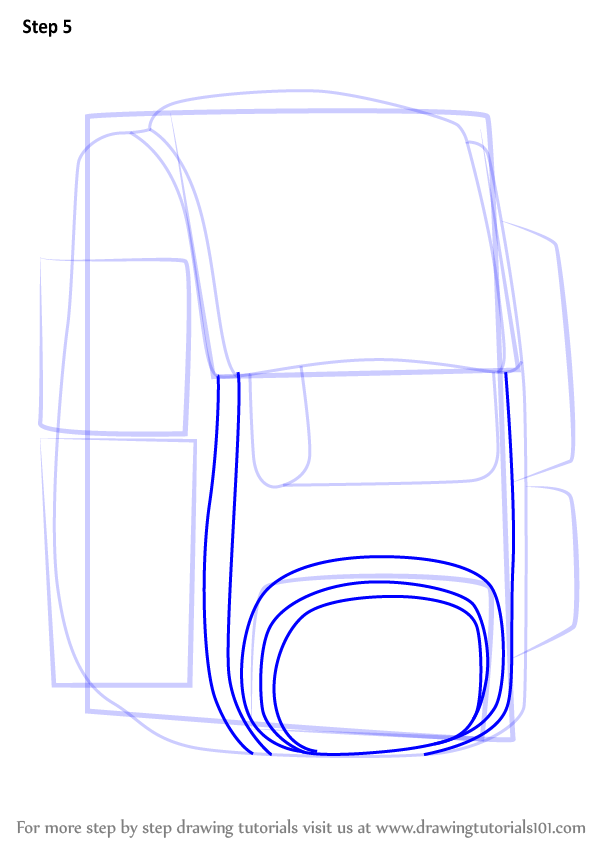 Learn How To Draw Travel Bag Easy Everyday Objects Step