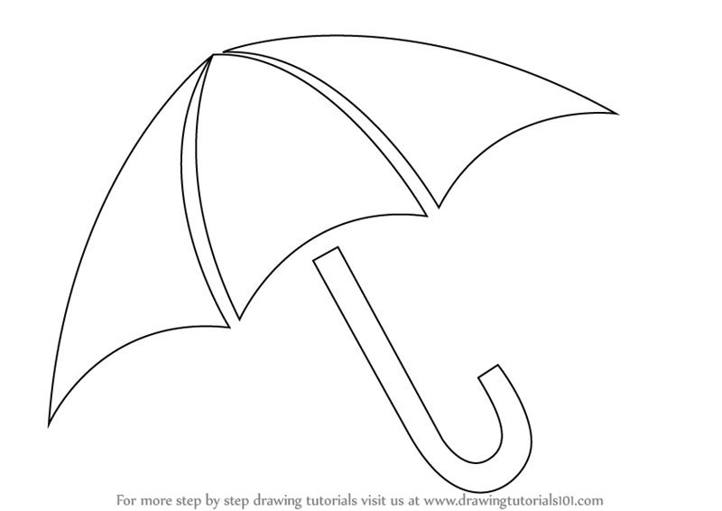 Learn how to draw an umbrella easy everyday objects step by step drawing tutorials