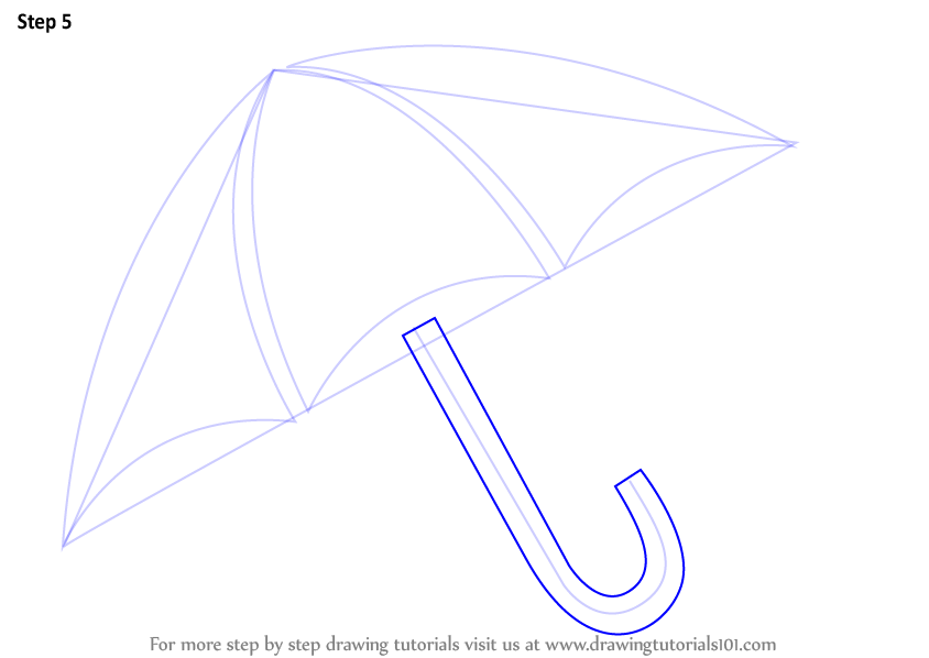 Learn How To Draw An Umbrella Easy Everyday Objects Step