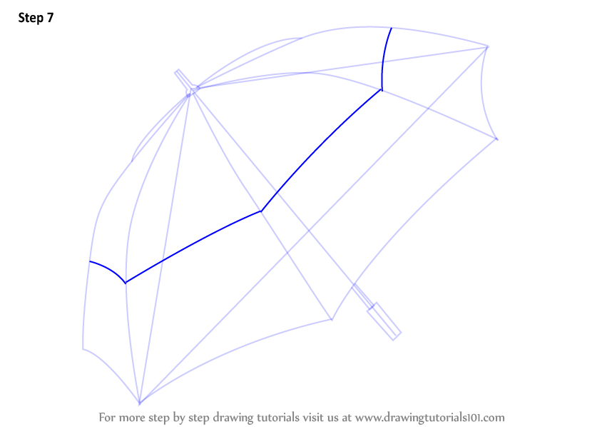 Learn How to Draw an Umbrella Everyday Objects Step by