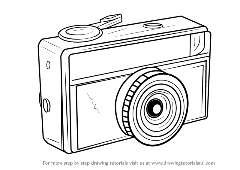 Learn How to Draw a Vintage Camera (Everyday Objects) Step by Step ...