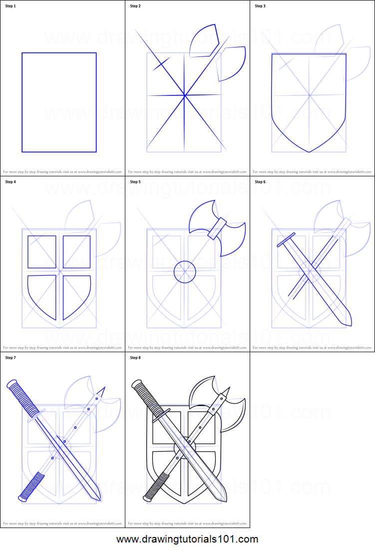picture relating to Shield Printable titled How toward Attract Warrior Guard printable stage via action drawing