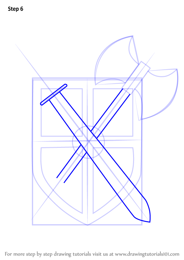 Learn How To Draw Warrior Shield Everyday Objects Step