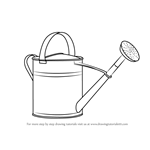 How to Draw Watering Can