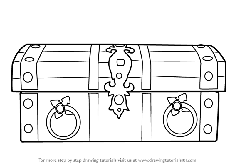 learn how to draw wooden treasure box everyday objects step by
