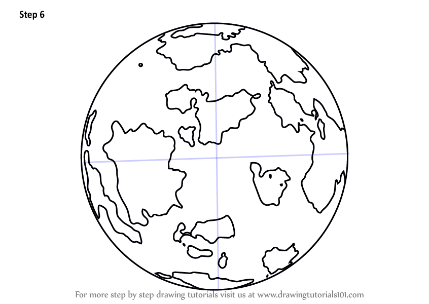 Learn How to Draw World Globe (Everyday Objects) Step by ...