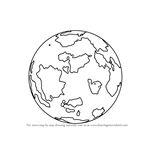 How to Draw World Globe