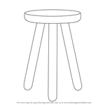 How to Draw 3 Legged Stool