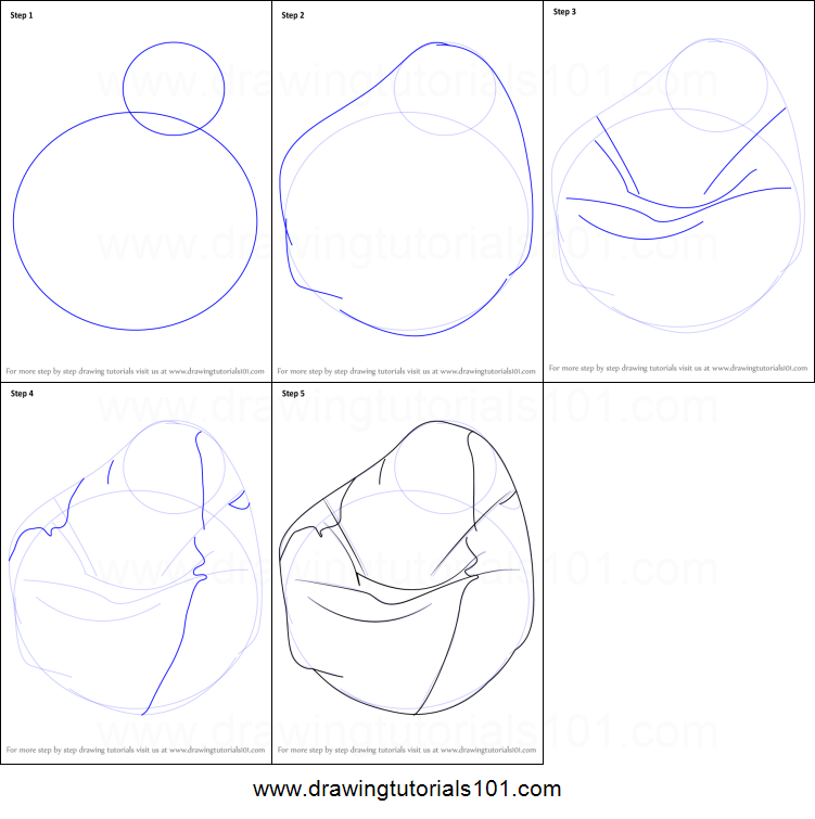 How to Draw a Bean Bag printable step by step drawing  : How to Draw a Bean Bag step by step from www.drawingtutorials101.com size 751 x 755 png 100kB