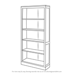 How to Draw a Book Shelf
