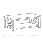 How To Draw A Coffee Table