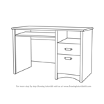 How to Draw a Computer Desk