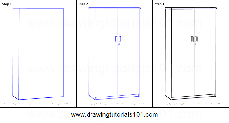 How To Draw A Cupboard Printable Step By Step Drawing
