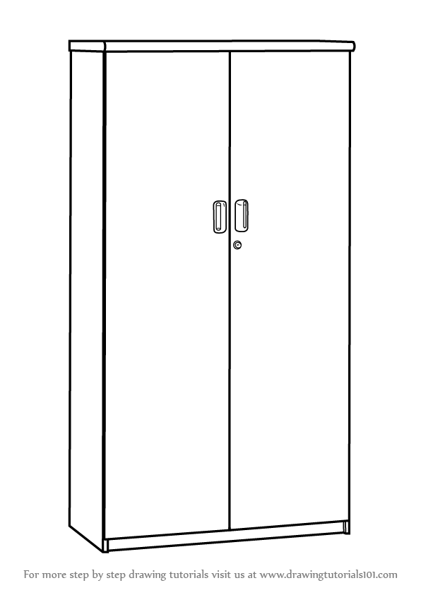Learn How To Draw A Cupboard Furniture Step By Step