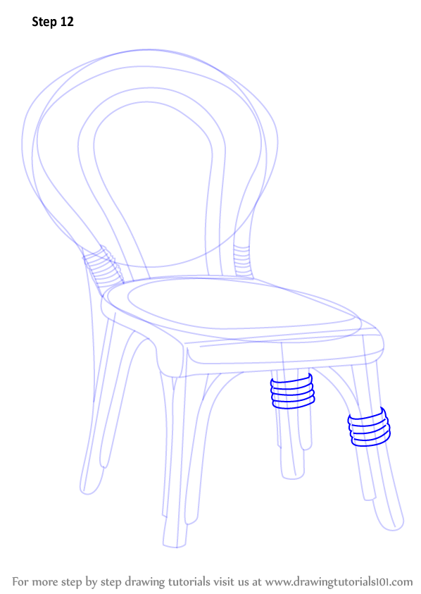 Learn How To Draw A Decorative Chair Furniture Step By Step Drawing Tutorials