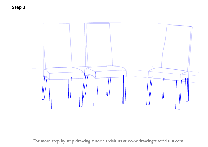 How To Draw A Armchair Learn How To Draw Dining Table With