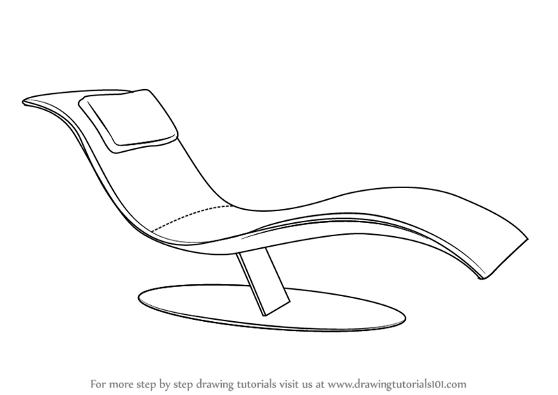 Line Drawing Chair : Learn how to draw a lounge chair furniture step by