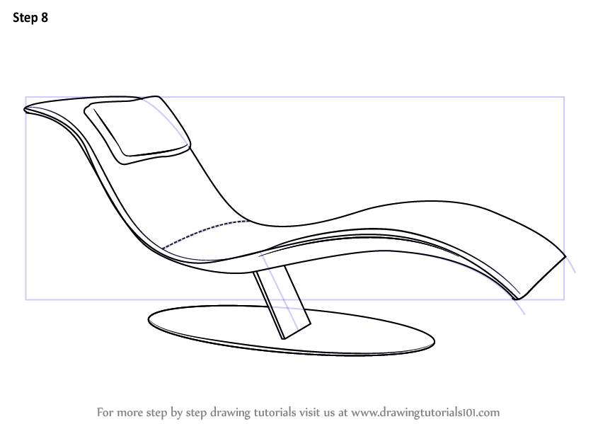 Learn How To Draw A Lounge Chair Furniture Step By Step