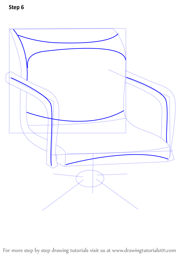 Drawing Lines In Office : Learn how to draw an office chair furniture step by