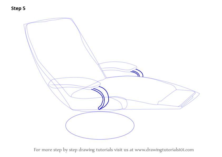 how to draw furniture step by step
