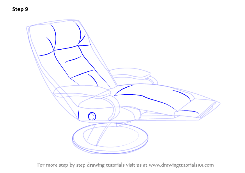 Learn How To Draw A Recliner Furniture Step By Step
