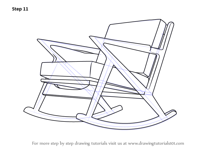 Remarkable Learn How To Draw Rocking Chair Furniture Step By Step Pdpeps Interior Chair Design Pdpepsorg