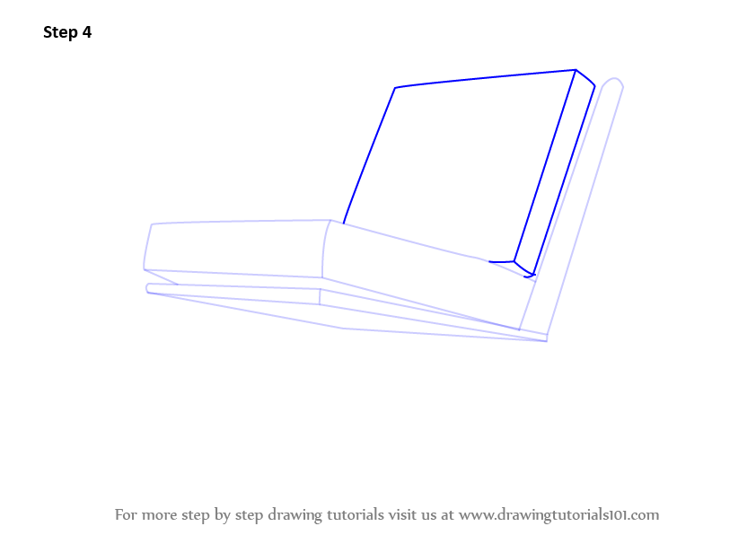 Learn How To Draw Rocking Chair Furniture Step By Step