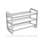 How to Draw Shoe Rack