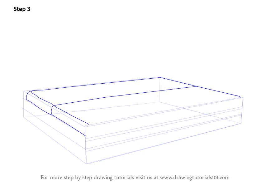 Learn How To Draw Sofa Cum Bed Furniture Step By Step