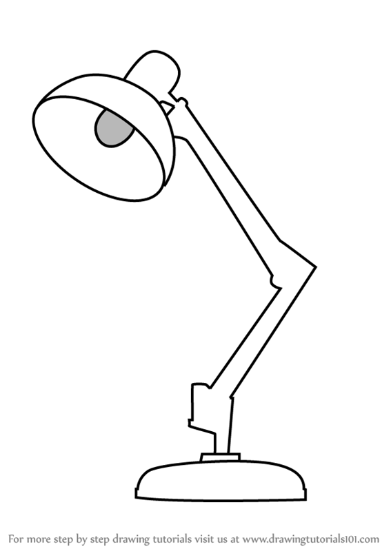 Learn How To Draw Table Lamp Furniture Step By Drawing