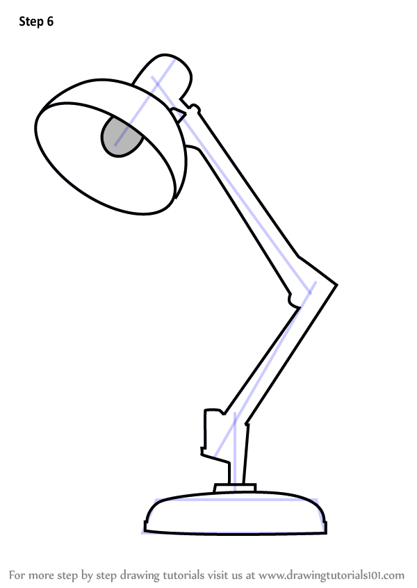 Learn How To Draw Table Lamp Furniture Step By Step