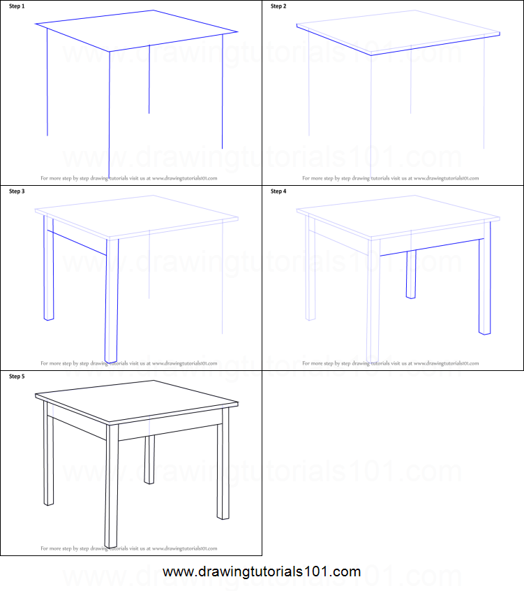 How To Draw A Table Printable Step By Step Drawing Sheet