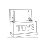 How to Draw a Toy box