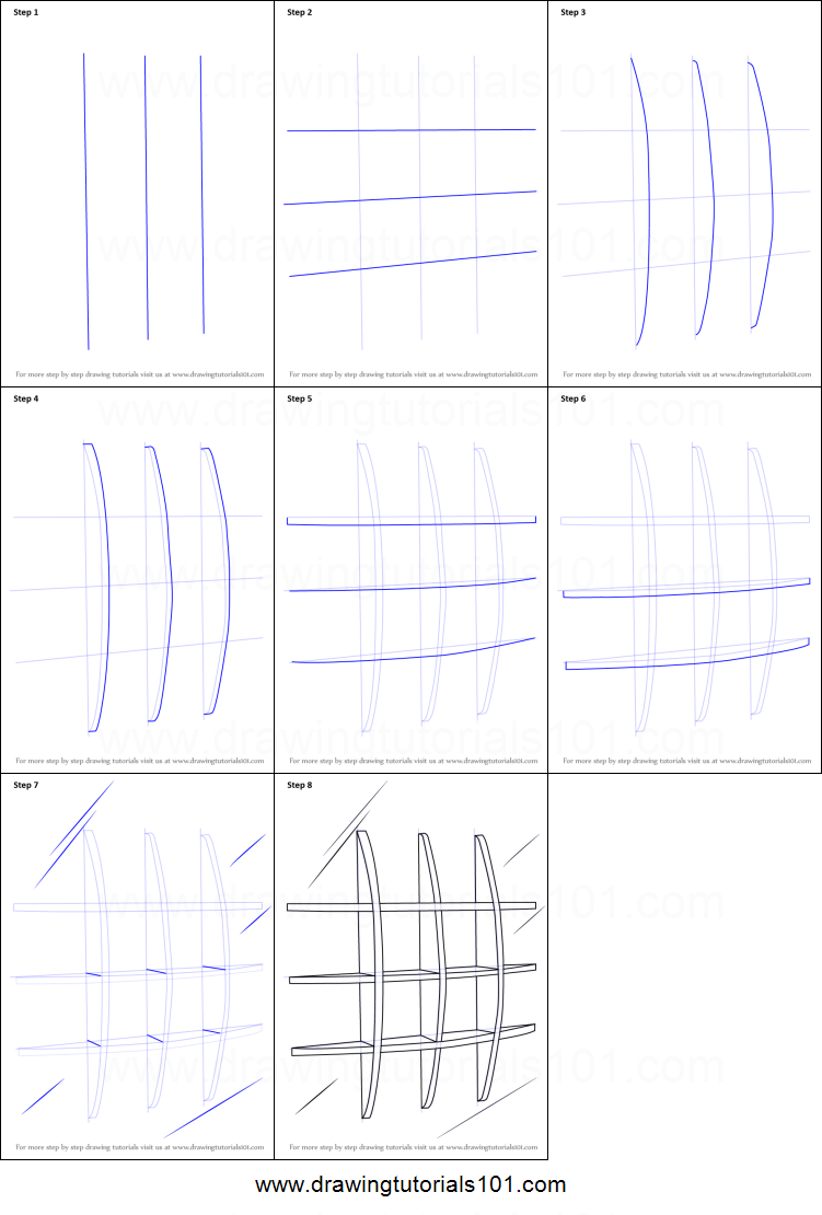 How To Draw Wall Shelves Printable Step By Step Drawing Sheet