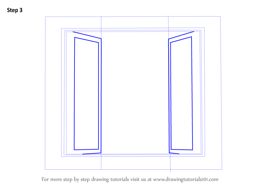 Learn How To Draw Wooden Windows Furniture Step By Step