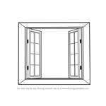 How to Draw Wooden Windows