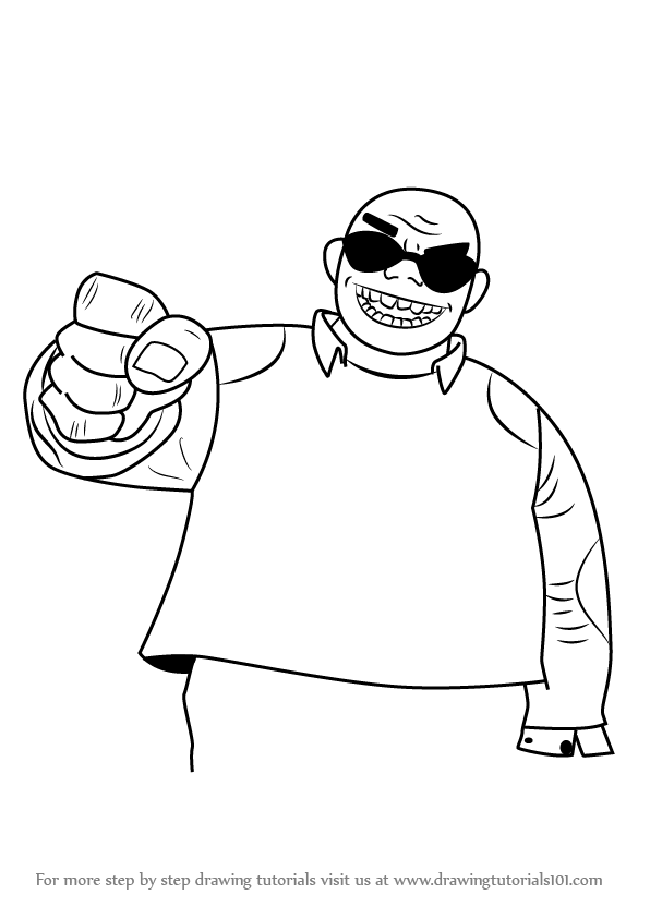 Learn How To Draw Russel Hobbs From Gorillaz Gorillaz