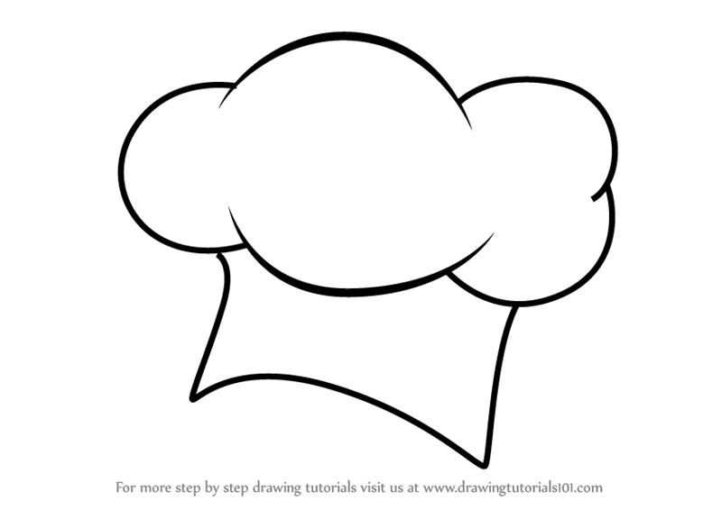 learn how to draw a chef hat hats step by step drawing tutorials