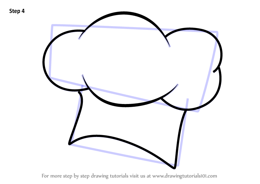 Learn How To Draw A Chef Hat Hats Step By Drawing Tutorials