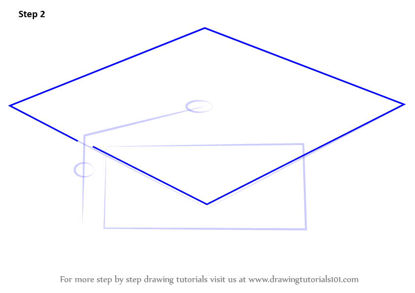 learn how to draw a graduation cap hats step by step