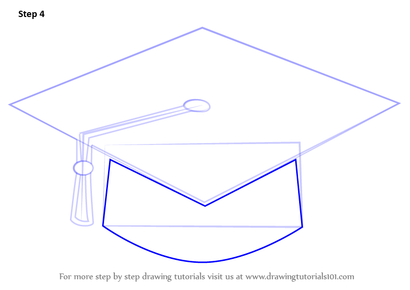 Learn How to Draw a Graduation Cap (Hats) Step by Step ...