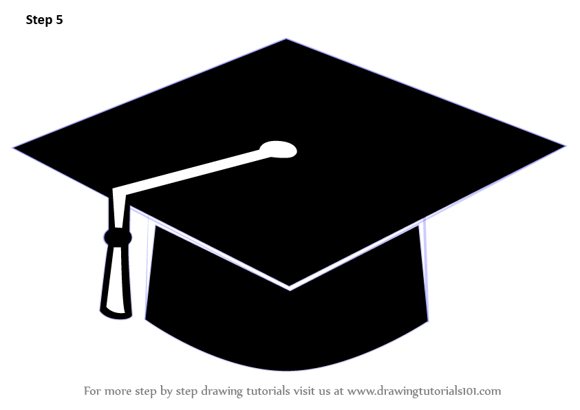 Learn How To Draw A Graduation Cap (Hats) Step By Step